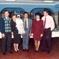 Arménio Grácio, Arminda Neves, Cristiana, Manuel Grácio, Fernanda e Carlos Grácio, no baptizado da neta Cristiana.