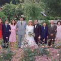 Otília, Paulo, Elsa, António, Ana Cristina, Acácio, Maria Irene Bento, António Fontinha e Maria Isabel, no dia do casamento do filho Acácio.