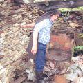 Manuel Grácio no moinho da Soalheira, próximo à Barroca do Tapado. Soito da Ruiva, 2006.