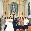 Anunciação Ribeiro (5ª da esq. p/ dir.), com os seus irmãos António, Belmira, Encarnação e Ilda no casamento da sobrinha Lurdes.
