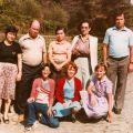Dorinda Martins dos Santos, José Francisco Marques e familiares (Benfeita, anos 70)