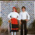 Rosa Maria dos Santos, filha de José, com o seu par do Rancho