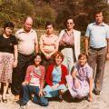 Dorinda (3ª esq. p/ dta), José Francisco (2º esq. p/dta) e familiares (Benfeita, anos 70)