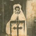 Luciete no dia da  Primeira Comunhão (com 15 anos)
