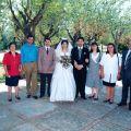 Conceição (à esq.) e António (à dta.) no casamento do filho José Carlos