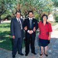 José Carlos (ao centro), filho de Conceição da Rita Mendes e António Lopes Antunes, no seu casamento