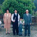 Zulmira Martins com os filhos Rui e Luís e o marido Manuel Martins
