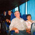 Maria Conceição dos Santos e Francisco Barata numa viagem de autocarro