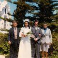 Casamento do filho António Pedro