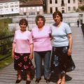As irmãs Diamantina, Maria dos Anjos e Maria Helena, nas Termas das Caldas de Sangemil (Agosto, 2007)
