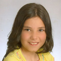 A filha Sónia (com 10 anos)