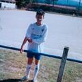 O filho Carlos (com 14 anos) a jogar futebol em Côja