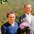 Adelaide Nunes e António Nunes, na comemoração das bodas de ouro do seu casamento (Mourísia)
