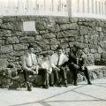 Luciano Nunes com amigos em Lisboa