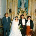 Luciano e Fernanda Nunes em casamento de sobrinhos