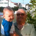 Américo Lopes Marques e o neto Diogo