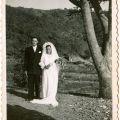 José Francisco Marques e Maria de Lurdes da Silva, no dia do casamento (4 de Agosto de 1949)