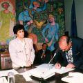 Tomada de posse de José Gaspar como Presidente da Junta do Piódão (Arganil, 1984)