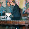 Tomada de posse de José Gaspar como Presidente da Junta do Piódão (Arganil, 1980)