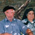 Elvira com o marido António Lopes Fontinha (Piódão, 2007)