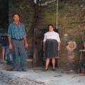 Elvira  e o marido António Lopes Fontinha (Piódão, 2007)