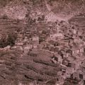 Vista panorâmica da aldeia de Piódão nos anos 60