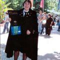 Lurdes Lopes na bênção das fitas na Cidade Universitária (Maio, 2006)