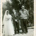 Casamento de Armindo e Palmira (Pardieiros, 16 de Setembro de 1957), na foto com José Rodrigues Redondo