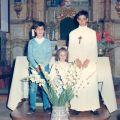 Os netos Jorge e Marina na comunhão solene do irmão Nuno