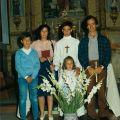 Profissão de Fé de Nuno Miguel, filho de Jorge Costa (esq. p/ dta: Jorge, Maria Jesus Santos, Nuno Miguel, Jorge Costa e Marina, à frente)