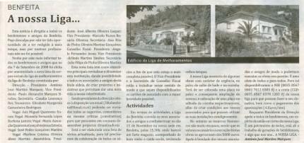 Notícia publicada na Comarca de Arganil, em 13 de Novembro de 2008