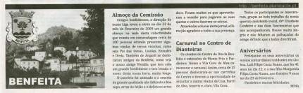 Notícia publicada no Jornal de Arganil, em 5 de Março de 2009