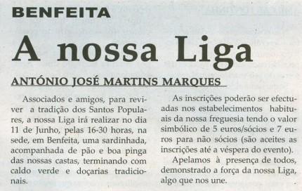 Notícia publicada na Comarca de Arganil, em 13 de Maio de 2009