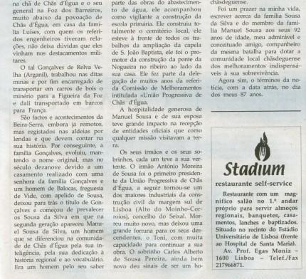Notícia publicada na Comarca de Arganil, em 6 de Maio de 2009 (continuação)