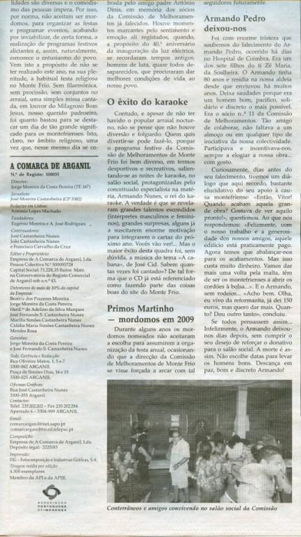 Notícia publicada na Comarca de Arganil, em 19 de Novembro de 2008 (continuação)