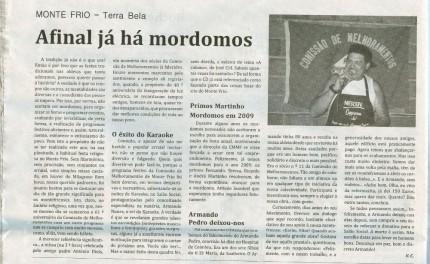 Notícia publicada no Jornal de Arganil, em 20 de Novembro de 2008