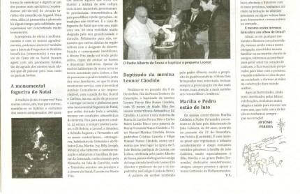 Notícia publicada no Jornal de Arganil, em 7 de Janeiro de 2010 (continuação)
