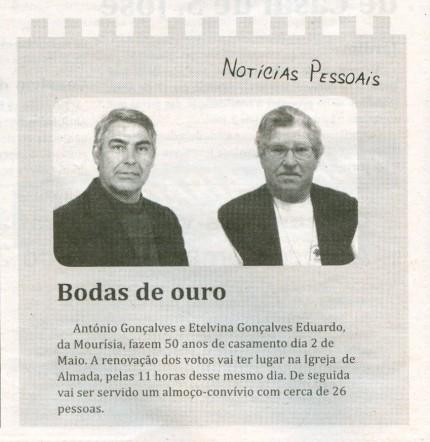 Notícia publicada no Jornal de Arganil, em 15 de Abril de 2010