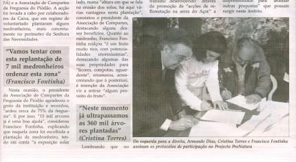 Notícia publicada na Comarca de Arganil, em 12 de Novembro de 2008 (continuação)