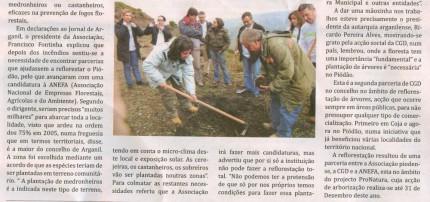 Notícia publicada no Jornal de Arganil, em 13 de Novembro de 2008 (continuação)