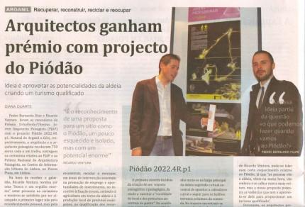 Notícia publicada no Jornal de Arganil, em 27 de Novembro de 2008