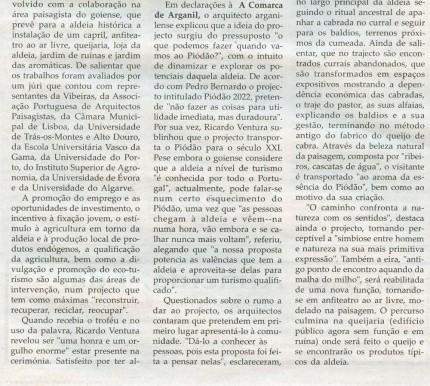 Notícia publicada na Comarca de Arganil, em 10 de Dezembro de 2008 (continuação)