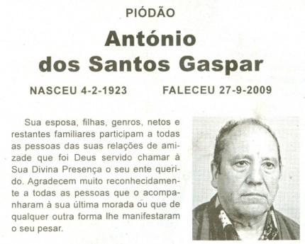 Notícia publicada no Jornal de Arganil, em 22 de Outubro de 2009