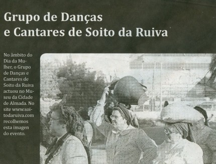 Notícia publicada no Jornal de Arganil, em 26 de Março de 2009