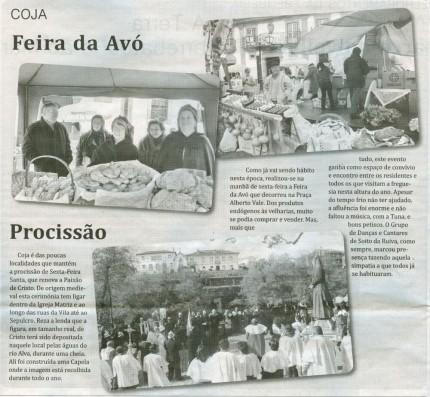 Notícia publicada no Jornal de Arganil, em 16 de Abril de 2009