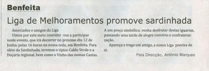 Notícia publicada no Jornal de Arganil,em 27 de Maio de 2010