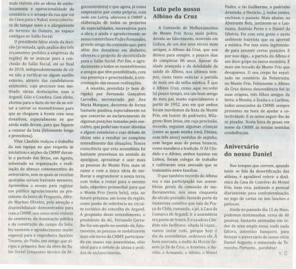 Notícia publicada no Jornal de Arganil,em 27 de Maio de 2010 (continuação)