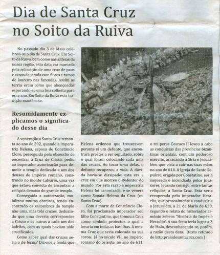Notícia publicada no Jornal de Arganil, em 20 de Maio de 2010
