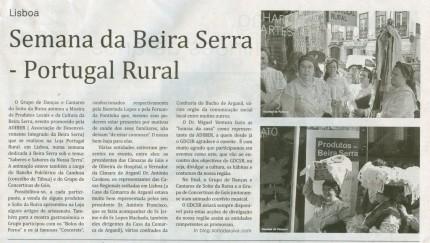 Notícia publicada no Jornal de Arganil, em 3 de Junho de 2010