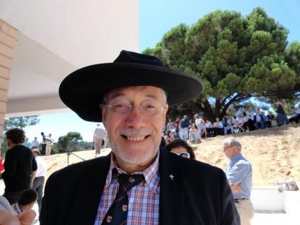 O Padre Jorge Oliveira, que já celebrou Eucaristia no Soito da Ruiva, um forte candidato a morgado do GDCSR